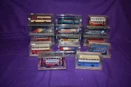 Fifteen Corgi (China) Limited Edition Original Omnibus diecast buses, including Harry Shaw,
