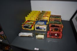 A selection of modern diecasts including Matchbox Models of Yersteryear Y3, Y4 x2, Y6 x2, Y7, Y9 &
