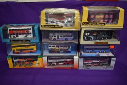 Six Corgi (china) Limited Edition Oriental Omnibus, SuperBus and similar diecast buses, including