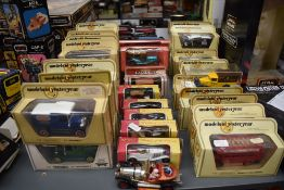 A Collection of twenty seven Matchbox Models of Yesteryear diecasts all in straw window boxes, Y3
