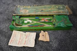 A Triang Minic electric & tinplate The Smallest Electric Toy Railway In The World boxed part set