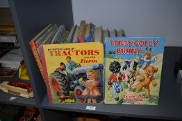 A selection of 1950's and later children's annuals and story books including Hotspur Book for