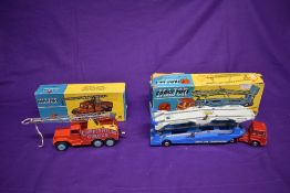 Two Corgi Major diecasts, Carrimore Car Transporter, boxed 1105 and Chipperfield's Circus Crane