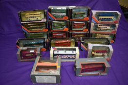 Seventeen EFE diecast buses including Premier Travel Service, Ribble, Preston Bus etc along with