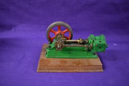 A well engineered Stuart Turner No 8 style horizontal live steam mill engine, single cylinder with