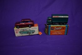 A Dinky diecast, Hillman Imp Saloon, in metallic red with blue interior, boxed 138