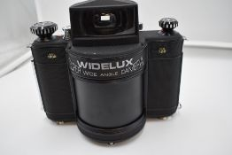 A Widelux model 1500 Super Wide Angle Camera No620384 in hard case