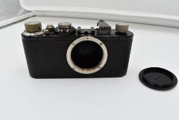 A Leica 1C camera body in leather case Circa 1930. Serial No 37473