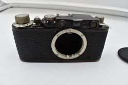 A Leica 1D camera body Circa 1932. Serial No 75345