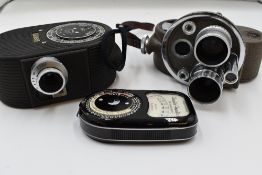 Two Cine cameras. A Dekko and a Bell & Howell Double Run Eight in original cases