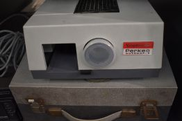 A Voigtlander Perkeo Automat J slide Projector in hard case