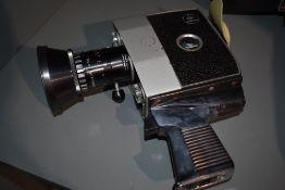 A Bolex Paillard P4 cine camera in hard case