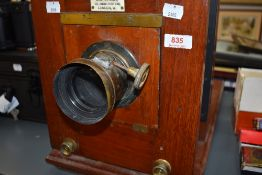 A Fallowfield, 146 Charing Cross Road London manufactured late 19th Century mahogany cased photogra