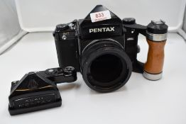 A Pentax 6X7 camera body. Serial No 4138372