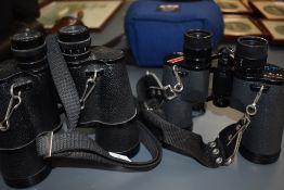 Two pairs of binoculars Greenkat 10 x50, Swift Grand Prix Mk1