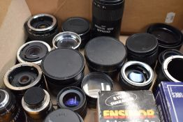 A selection of 35mm compact cameras including Konica C35, Opus MD2, Optima 335, a selection of