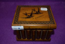 A Sorrento jewellery case or similar box in the form of books decorated with Swallows 'A