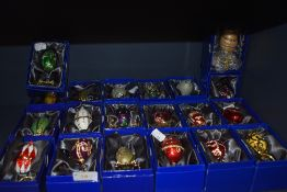 A selection of Atlas edition Decorative Eggs in a Faberge style nearly all boxed and certificated