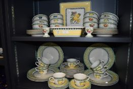 A fine part dinner and tea service by Villeroy Boch in the Country Collection design