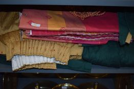 A set of Dorma curtains and tie backs in pinks and oranges and a collection of good quality