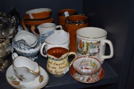 A selection of ceramics including Motto ware and Royal Worcester Evesham