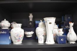 Ten item of Aynsley 'Little sweetheart' with boxes including vases and trinket bowls also included
