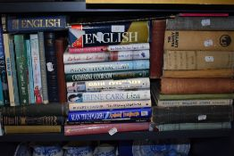 A selection of vintage text and reference books including The Family Lawer
