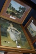 A selection of framed and glazed prints including Constable interest