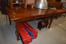 A modern hardwood kitchen table, 170cm x 100cm