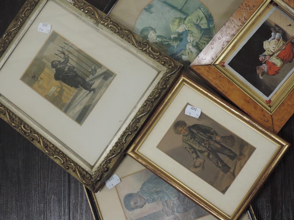 A selection of prints, portrait studies, inc Baxter, 15 x 20cm, framed and glazed