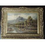 An oil painting, Sidney Yates Johnson, Loch Katrine, monogrammed and attributed verso, 29 x 44cm,