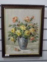 An oil painting, Lockerman, still life, indistinctly signed, 40 x 29cm, framed
