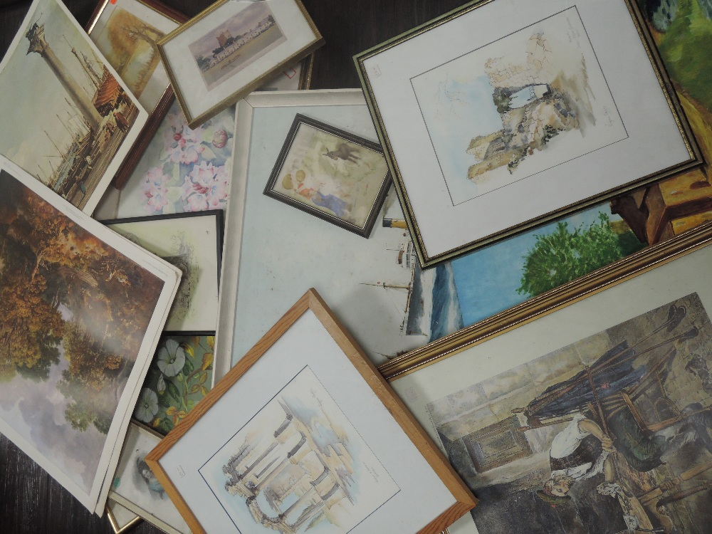 A selection of decorative pictures, inc, Eleanor Young, still life, 30 x 26cm, framed and glazed,