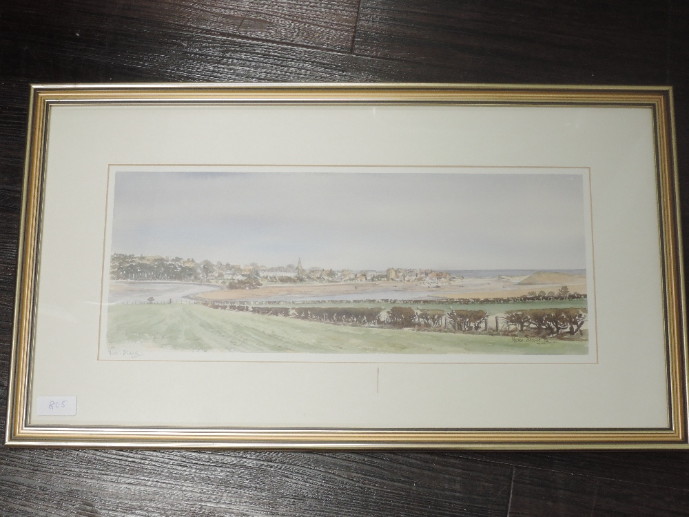 A Ltd Ed print, after Helen Stuart, signed, and num 121/250, 17 x 43cm, framed and glazed