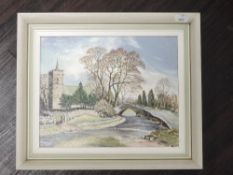 An oil painting on board, Neil Taylor, Crosby Ravensworth, signed, 20 x 25cm, framed