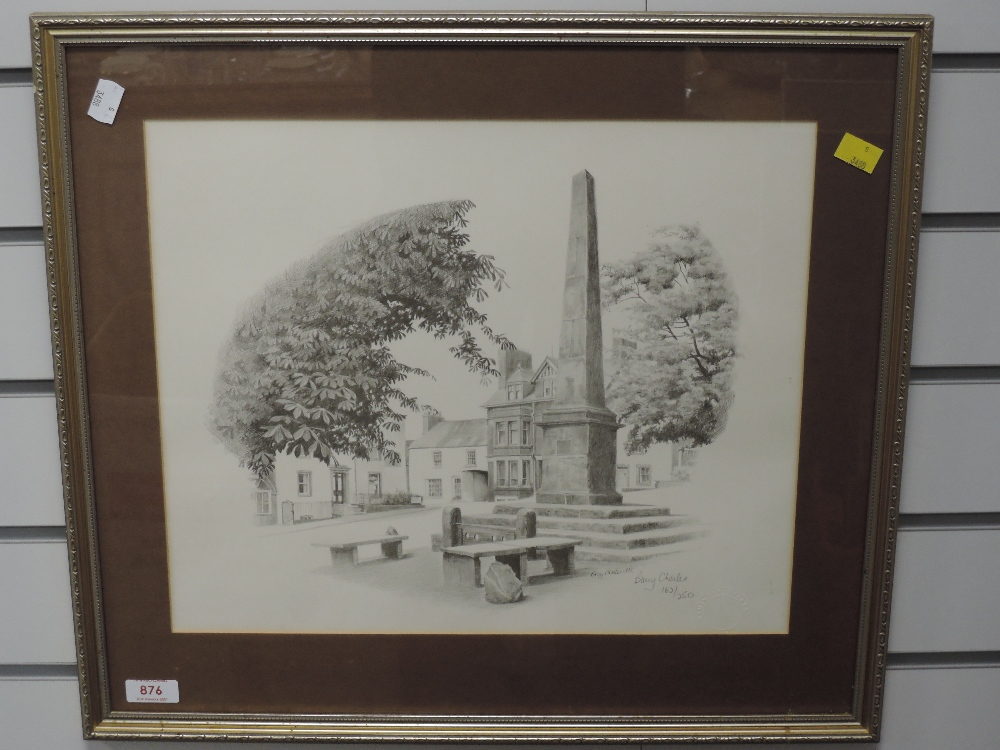 A Ltd Ed print, after Barry Charles, Broughton in Furness, signed and num 162/250, 34 x 40cm, framed