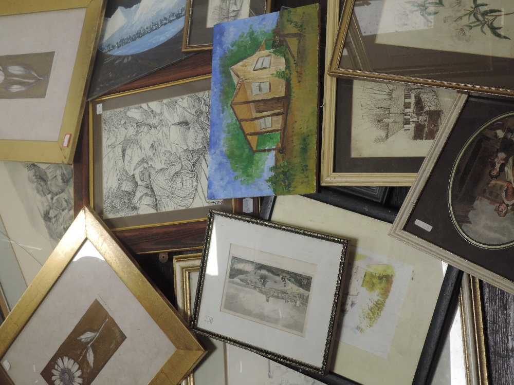 A large selection of decorative prints, inc after Watts, still life dated 1836, 20 x 12cm, framed