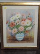 A watercolour, Albert Jump, still life, signed, 49 x 39cm, framed and glazed