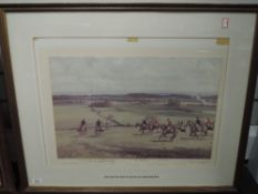 A Ltd Ed print, after Neil Cawthorne, The South Notts Hunt at the Limekiln, signed and num 44/250,