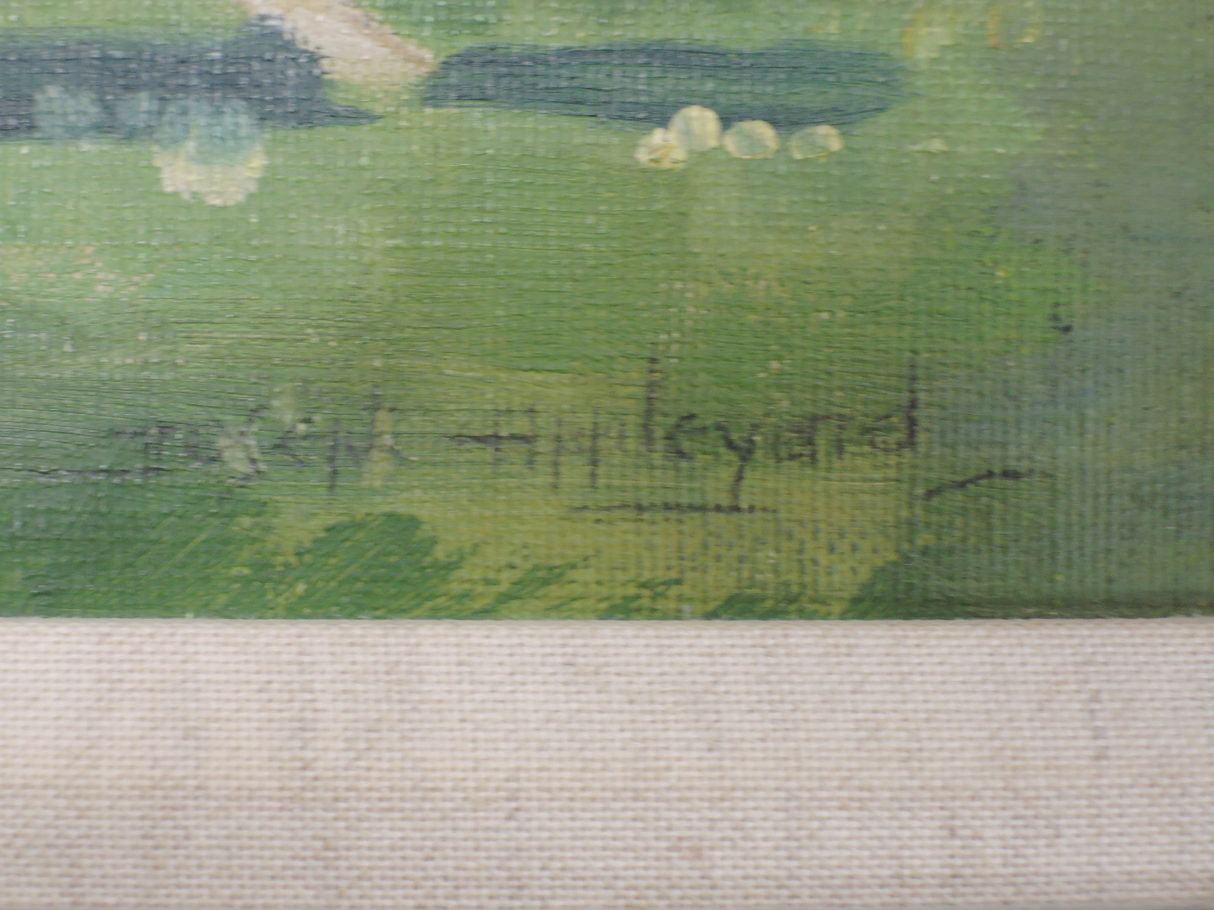 An oil on board, Joseph Appleyard, Hounds in the Park, signed and attributed verso, 40 x 59cm, - Image 2 of 4