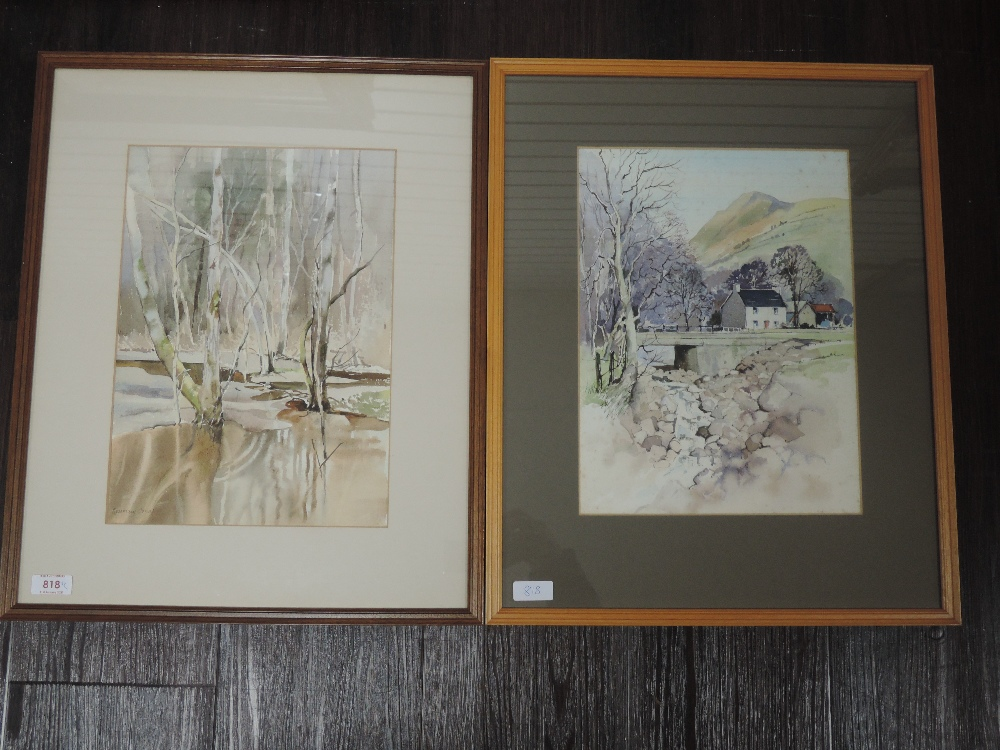 Two watercolours, Rosemary Jones, Swansea Valley, attributed verso, 35 x 25cm, framed and glazed,