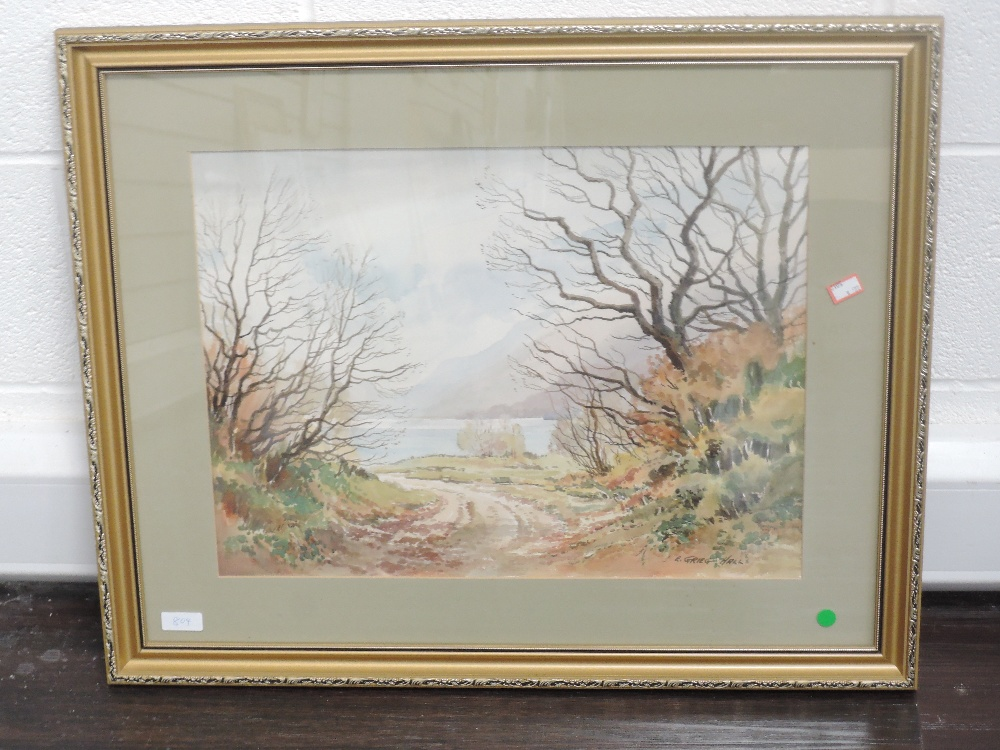 A watercolour, E Greig Hall, Ullswater, early December, signed, dated (19)75, and attributed