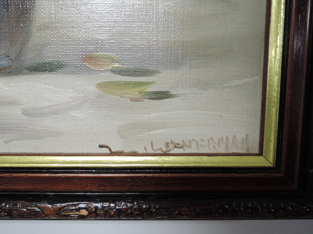 An oil painting, Lockerman, still life, indistinctly signed, 40 x 29cm, framed - Image 2 of 2