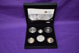 A Royal Mint 2009 UK Family Silver Proof Collection in original box with certificate comprising,