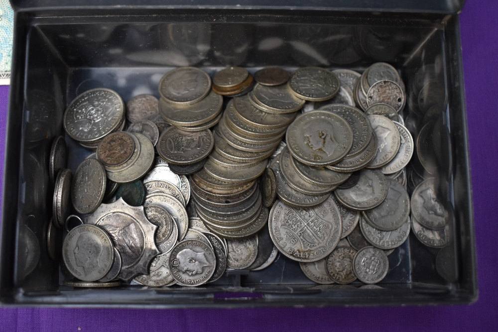 A large collection of mainly GB Coins, copper, brass & silver, approx 15 ounces of pre 1947 silver - Image 2 of 4
