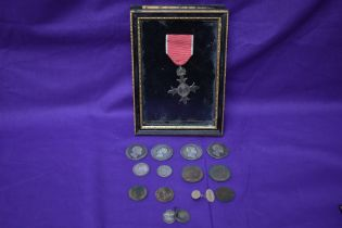 A small of mainly silver Coins including four Half crowns, 1834, 1836 x2, George IV etc, a 9ct