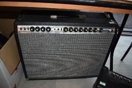 A Fender 'silver face' Pro Reverb 2 x 12 combo amplifier, serial number A815950