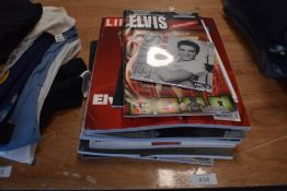 A selection of Elvis Presley rock n roll ephemera and similar material