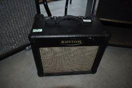 A Kustom 10 watt guitar amplifier with effects