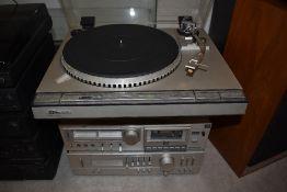 A JVC quartzlock record player with stackable JVC - KD-A33 A-X2 T-X1L